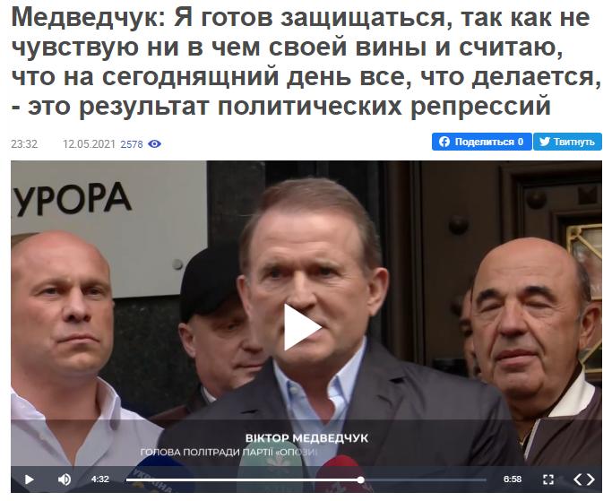Об'єктивність українських ЗМІ: кейс Медведчука